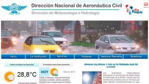Previsão do tempo no Paraguai