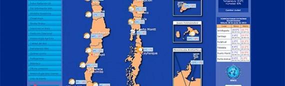 Previsão do tempo no Chile