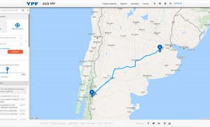 YPF: Mais uma opção de mapas rodoviários na Argentina