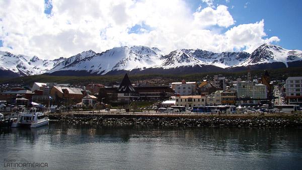 Vista da cidade de Ushuaia, na Argentina