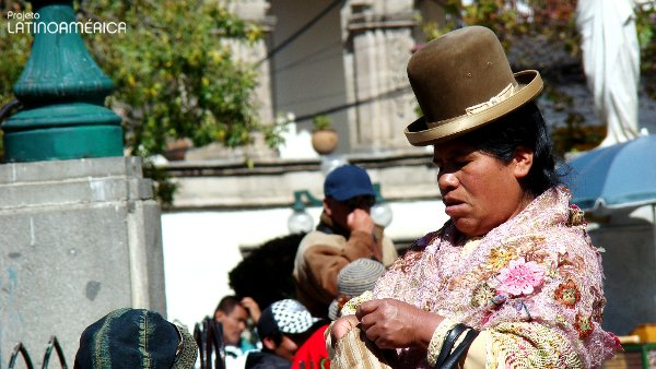 Chola boliviana. La Paz.