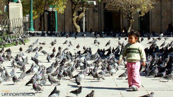 Plaza Murillo. La Paz, Bolívia.