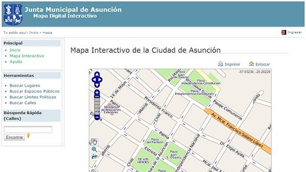 Mapa Interactivo de Asunción