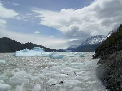 Parque Torres del Paine e a vista do glaciar Grey