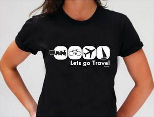 camisetas de viagem