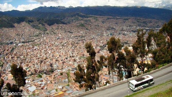 La Paz, Bolívia. Vista da cidade.