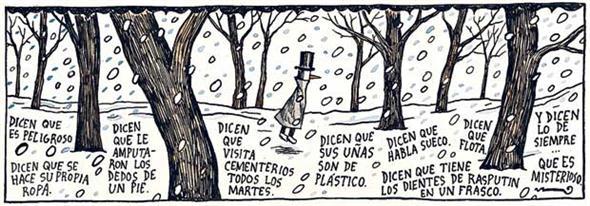 O misterioso Homem de Negro - Liniers